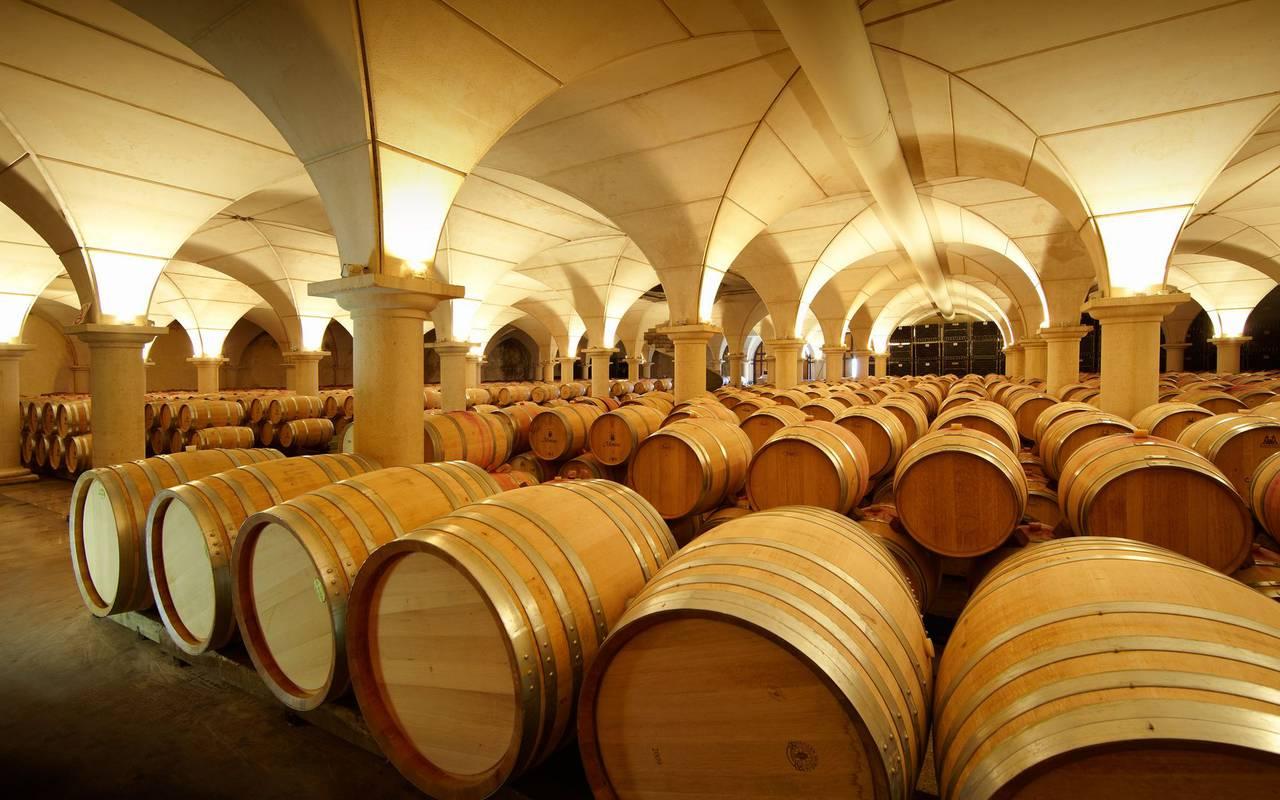 La cave à vins de Gan Jurançon, hotel chateau fort lourdes, Hôtel La Solitude.